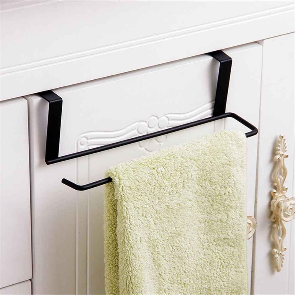 1 PCS Home Organizer Shelf Toilet Towel Holder Paper Roll Rack Tissue Hanger Under Cabinet