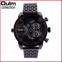 Часы мужские нержавеющие стали  модные часы OULM шикарные спортивные наручные часы человек