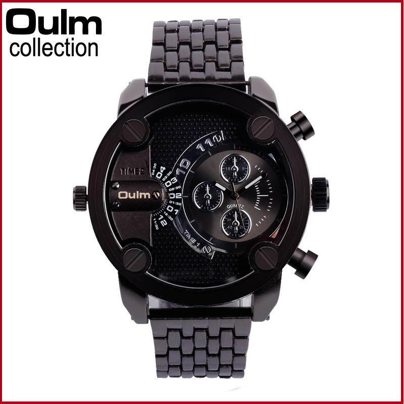 Men s Stainless Steel Fashion Watch font b Oulm b font Brand font b Luxury b