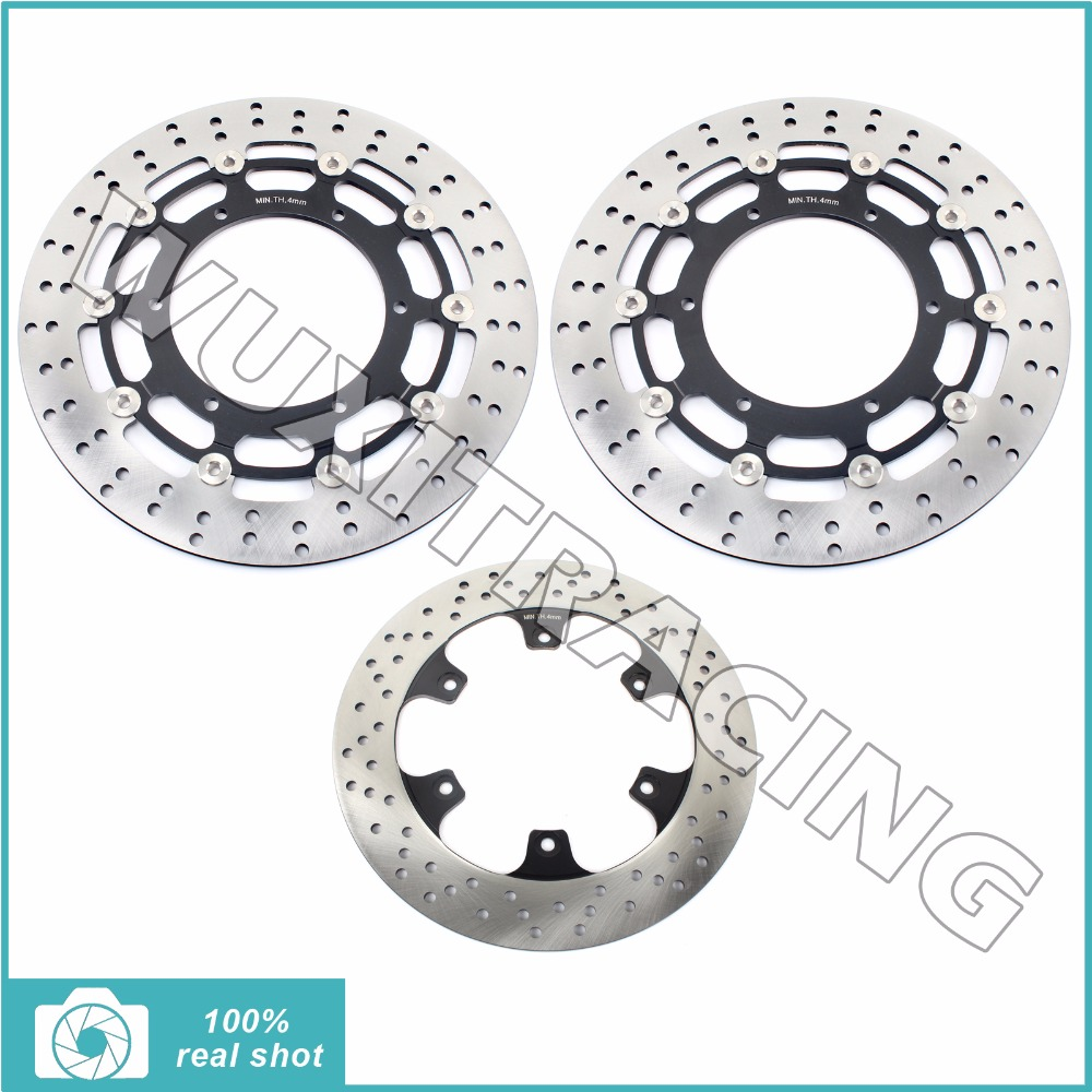 New Full Set Front Rear Brake Discs Rotor for YAMAHA FJR1300 FJR 1300 A / ABS 2004- 2005 2006 2007 2008 2009 2010 2011 2012 2013 new front brake caliper with pads fits for yamaha utv rhino 450 2006 2009 2008 660 2004 2005 2006 2007 new
