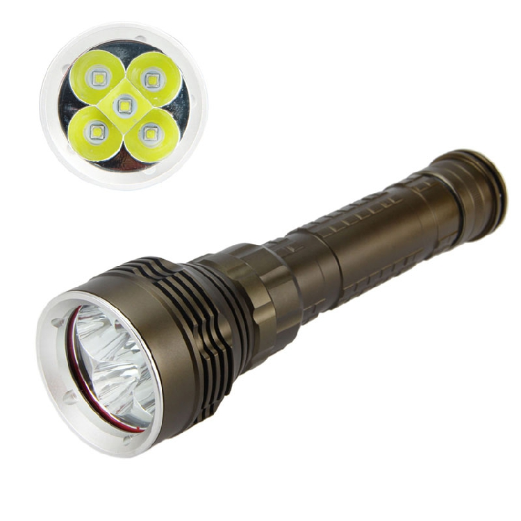 10000LM 5x CREE XM-L L2 LED T6 LED Waterproof Diving Flashlight Torch led 3 5x