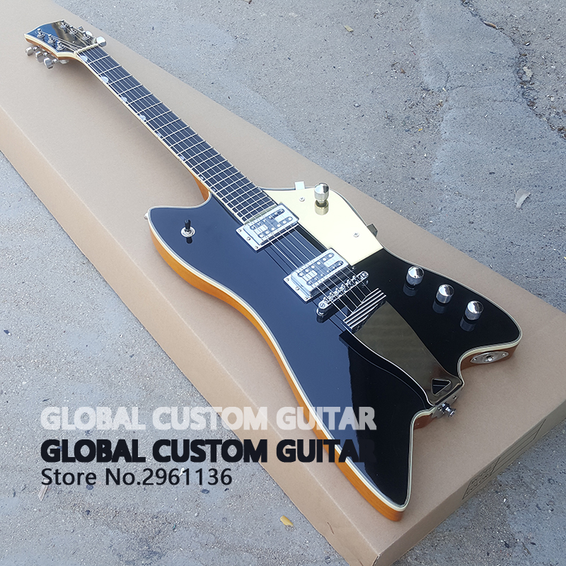 High quality thunderbird electric guitar,celluloid serging,Real photos,free shipping Promotional activities can custom hot sale! free delivery high quality custom store electric guitar silver hardware ebony lp guitar wholesale and retail real photos