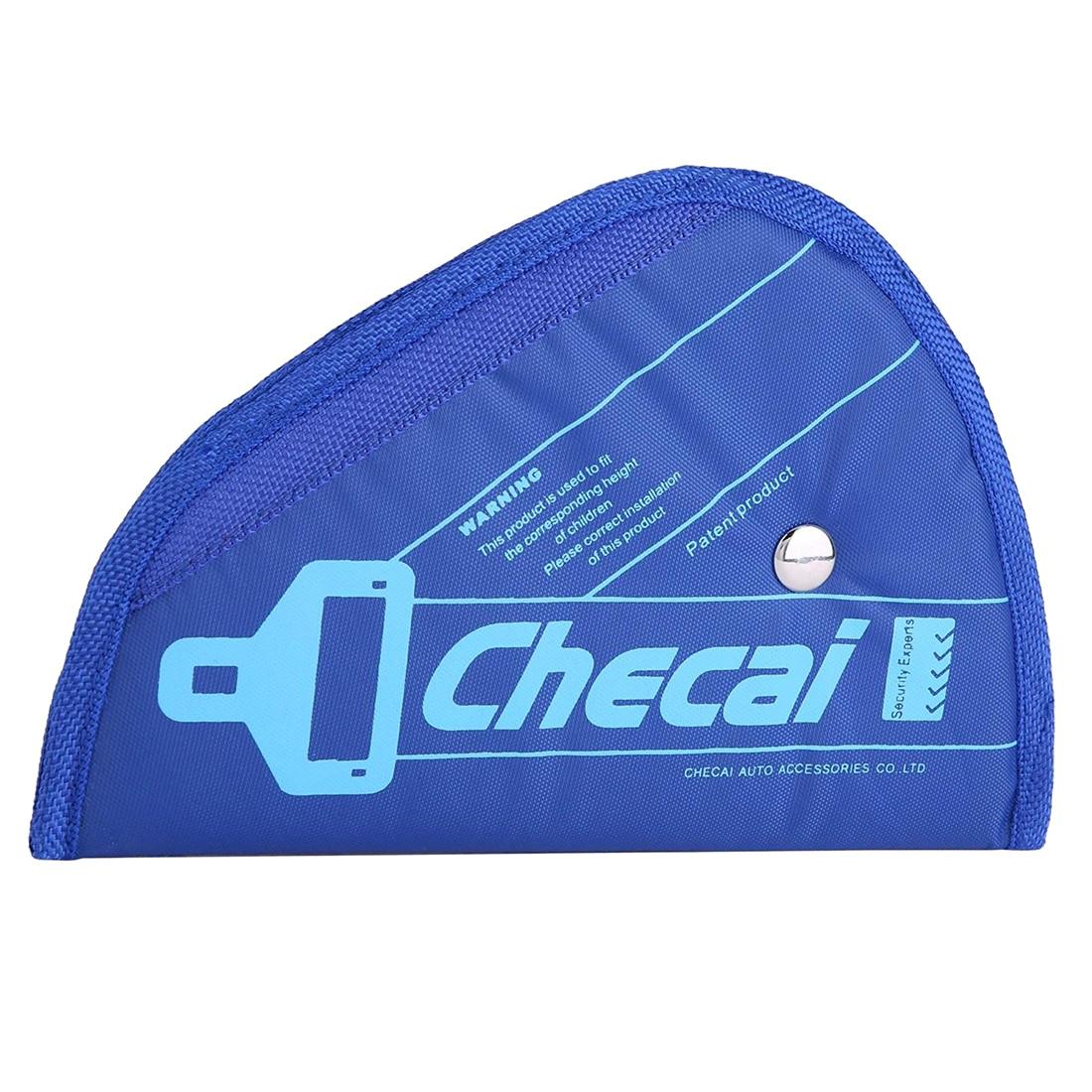 Child Kids Baby Adjustment Auto Car Belt Adjuster Safety Seat Belt Positioner Blue