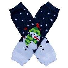 Детские Рождественские вязаные гамаши, мягкие полосатые леггинсы в горошек, хорошее качество, наколенники носки для ползания, для взрослых, теплые, 20 стилей