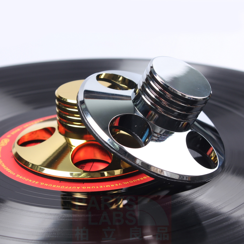2018 Gold plating or chromium plating LP Vinyl Turntables Metal Disc Stabilizer Record Weight/Clamp HiFi