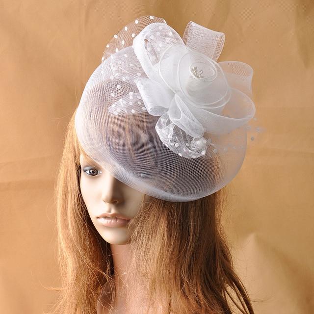 Reine Weiße Blumen Hut Haar Clip Für Frauen Blume Fascinator ...