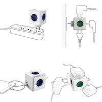 allocacoc мощность полосы расширения дизайн мощность куб разъем ес разъем 4 розетки двойной порты USB для адаптер-6а 250