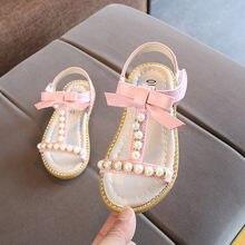 35c77260 Zapatos de niñas zapatos de princesa zapatos 2019 nuevo brillo niños bebé niñas  Sandalias de lazo