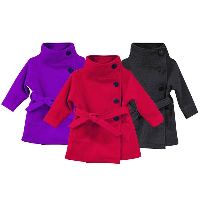 Bebé del invierno Abrigo Largo prendas de Vestir Exteriores de Los Niños Chaquetas Niños Ropa de Abrigo