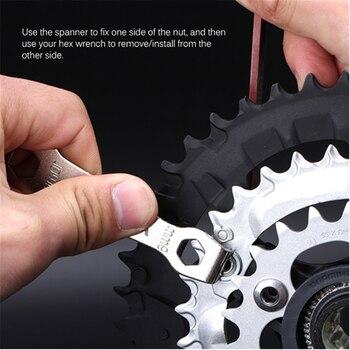 Cadena de bicicleta de dos extremos, llave de pernos de anilla, herramienta de desmontaje de rueda de cadena, manivela, tuerca, llave inglesa, herramientas multifuncionales