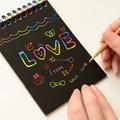Hot Magia Livro de Desenho DIY Scratch Cartão Como Presente Para Crianças Artigos de Papelaria Material Escolar Notebook Preto