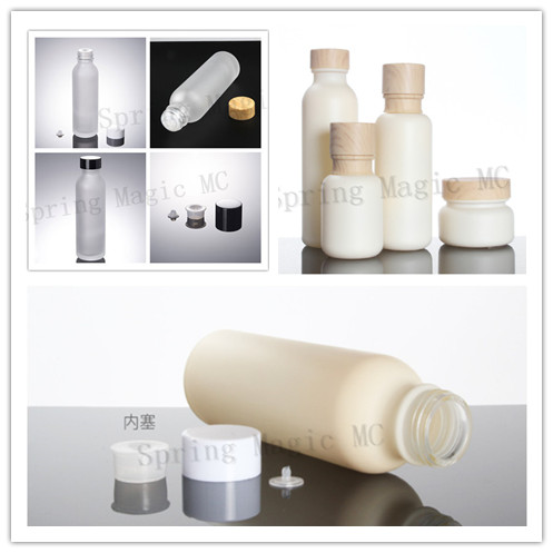 150 Ml Bottiglie Di Vetro Smerigliato Con Venature Del Legnobianco