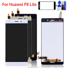 купить 5.0 inch For Huawei P8 Lite PRA-LA1 PRA-LX1 PRA-LX2 PRA-LX3 LCD Display Touch Screen Digitizer Assembly Replacement Tools по цене 1097.52 рублей