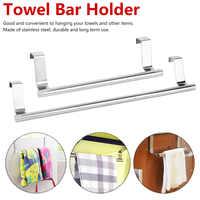 Stainless Steel Bathroom Towel Stand Rack Kitchen Cupboard Hanger Cabinet Door Chest Hanging Sundries Storage Shelf