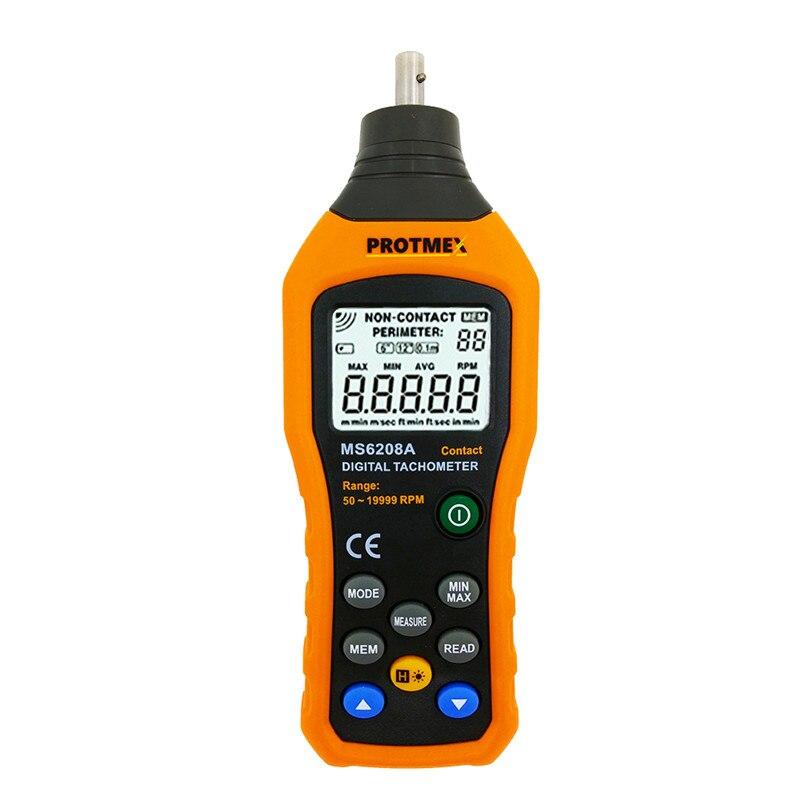 Nouveau MS6208A Contact Type LCD tachymètre numérique poche vent vitesse Test mètre débit d'air anémomètre pour industriel agricole