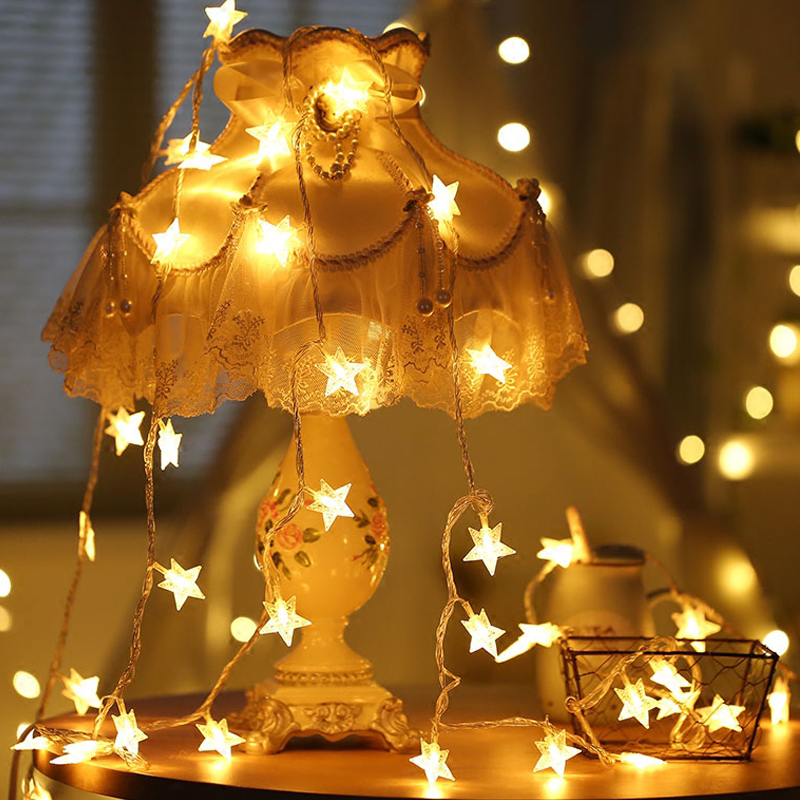 BEIAIDI 50M 400 Bulbs Star Fairy LED String Christmas Garland Light Outdoor Holiday Wedding Patio Party Xmas Festoon Fairy Light ac220v 50m 400leds eu plug fairy string light 8 modes outdoor chirstmas string garland for xmas wedding christmas party holiday
