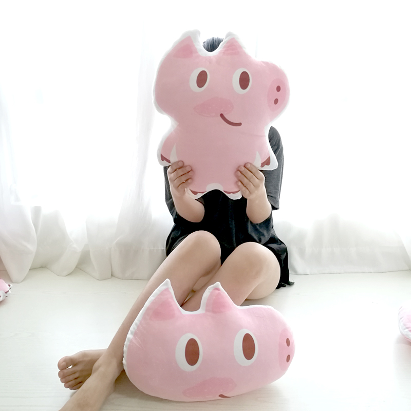 Cartoon pink Pig doll plush toys pillow at home sofa children bed ecoration