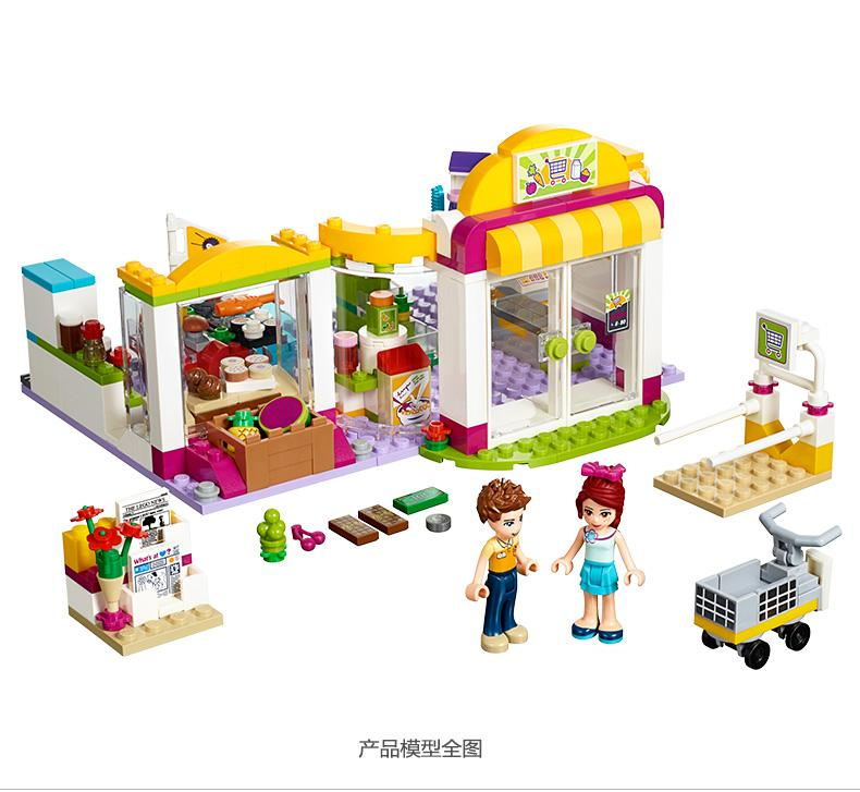 Pogo Lepin Bela 10494 318Pcs Heartlake Supermarket 41118 Girls Friends Building Blocks Bricks Toys Compatible Legoe 10494 city supermarket building bricks blocks set girl toy compatible lepine friends 41118
