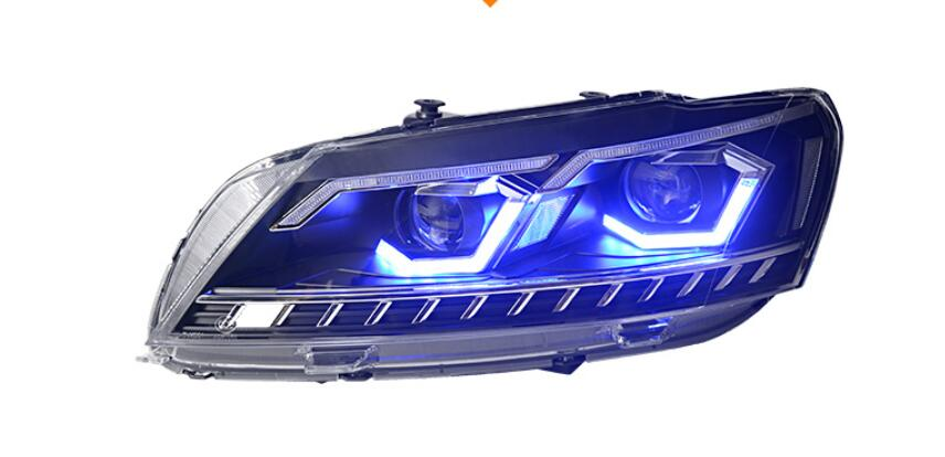 Image 2 - 2pcs car styling for B7 Passat headlight,2012 2013 2014 205,bumper lamp for Passat fog light,car accessories,Passat b7,magotanpassat fog lightfog lightpassat headlights -