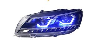 Image 2 - 2pcs car styling for B7 Passat headlight,2012 2013 2014 205,bumper lamp for Passat fog light,car accessories,Passat b7,magotan