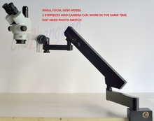 FYSCOPE 3.5X-90X STEREO ZOOM SIMUL FOCAL MICROSCOPE +ARTICULATING STAND MICROSCOPE + 38MPHDMI CAMERA