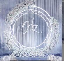 New wedding props, iron ring rack, sun flower door, background decoration, arch
