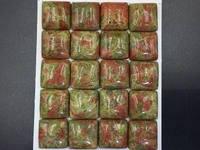 4pcs 16mm Unakite Cabochon Square Cabochon Green Pink Gemstone Cabochon Loose Gemstone Semi Precious Unakite Jasper