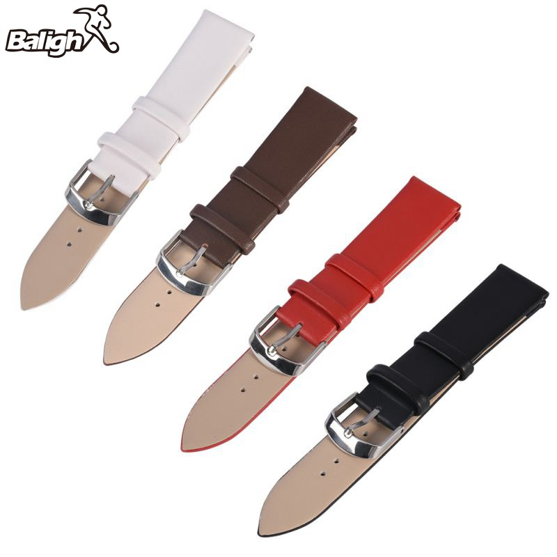 Watchbands Leather WatchBand Stainless Steel Buckle Clasp Watch Band Leather Strap 16,18,20,22mm