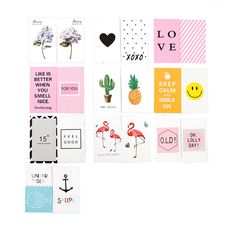 10PC Fashion New Double Side Korean Chic Postcards Greeting Cards For Photography Photo Shooting Tools Background Cards Picture