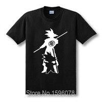 Chegam novas Japão anime Dragon Ball Z Camiseta Super Saiyan homens fluorescentes Son Goku T Encabeça Homens Roupas Plus Size T-shirt
