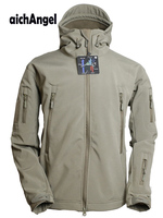 Army Military Tactical Jacket Men Soft Shell Waterproof Windproof Man Jacket Coat Hunter Camouflage Hoody Jacket