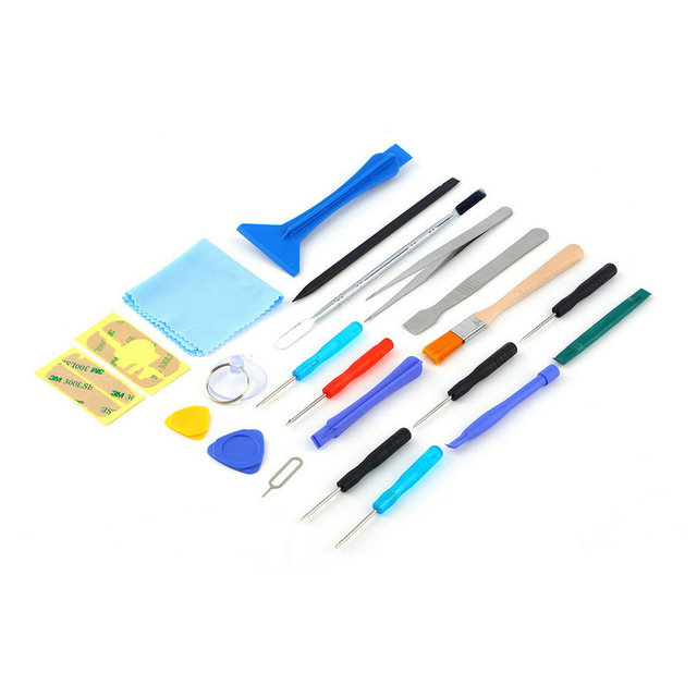 22 in 1 Open Pry mobile phone Repair Screwdrivers Sucker hand Tools set Kit For Cell Phone Tablet Hot sale