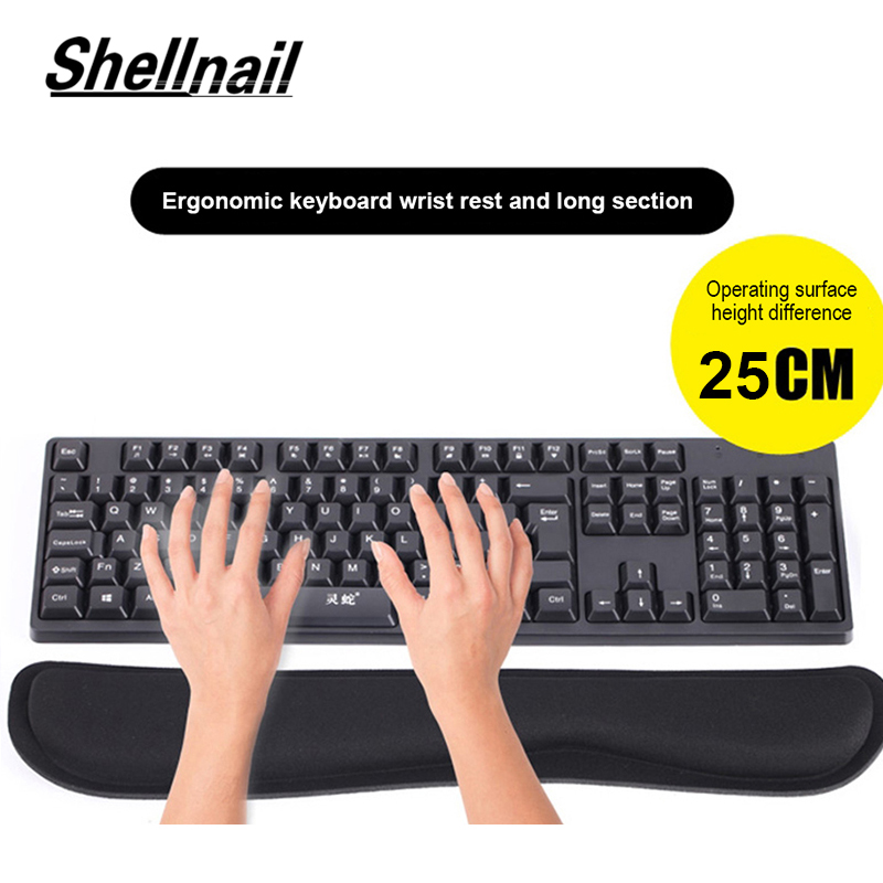 Mechanical Keyboard Wrist Rest Pad Mouse Wrist Rest Pad Ergonomic Memory Foam Set Comfort Mouse Pad For Office Computer Laptop