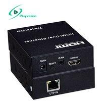 Hdmi Extender 100 M Rj45 Cat5E/Cat6 1080 P 3D Peut Se Connecter au Réseau Commutateur Le Soutien D'un Émetteur à Multiples Rdceive