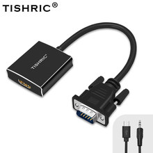Tishric VGA Ke HDMI Female Converter 1080 P Adaptor Kabel Audio Power VGA2HDMI Digital Ke Analog Adaptor untuk PC PS3 PS4 Monitor(China)