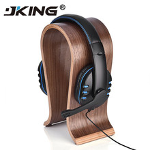 Universal U Shape Wood Headphone Stand Earphone Hanger Display Shelf Rack Bracket Desk Portable Earphone Accessories 2 Colors(China)