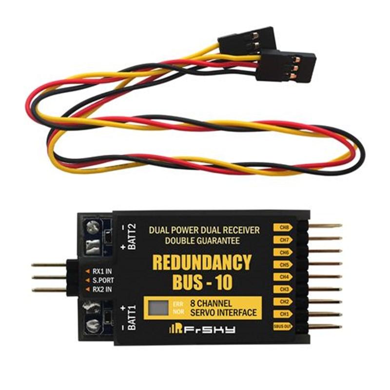 FrSky Redundancy bus-10 8CH Servo Interface S.Port compact RB10 Dual power dual receiver double guarantee frsky v8fr ii 2 4g 8ch receiver hv version