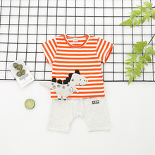 baby boy girl shorts suit clothes  baby  kids summer clothes baby girl outfit baby girl set infant clothing dinosaur embroidery