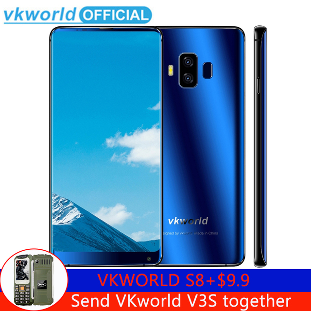 VKworld S8 4GB 64GB Dual Back Cameras Fingerprint Mobile Phone 5.99'' Full Screen Android MTK6750T Octa Core Dual SIM Smartphone