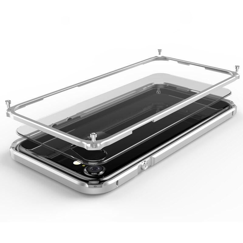 imágenes para Para Apple iPhone 7 Caso de Parachoques de Aluminio del Metal y Claro Transparente Cubierta de La PC Armor Para Apple iPhone 7 Más Caso Parachoques iPhone7