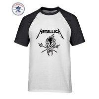 2017 Newest Fashion Funny Heavy Metal Rock Metallic Cotton T Shirt For Men