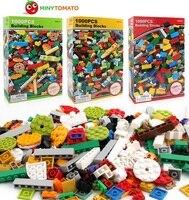 4 styles1000pcs/lot Building Block DIY Kids Creative Bricks block Compatible with LG City for kid birthday Christmas gift no box