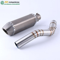 Z 800 Motorcycle Exhaust Full System Link Middle Pipe Muffler For Z800 2013 To 2017 New