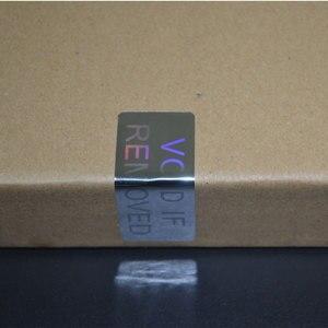 Image 2 - VOID إذا إزالة الأمن الهولوغرام فقط لمرة واحدة استخدام الفضة اللون 20 مللي متر x 50 مللي متر الثلاثية الأبعاد ملصقا للتغليف شحن مجاني