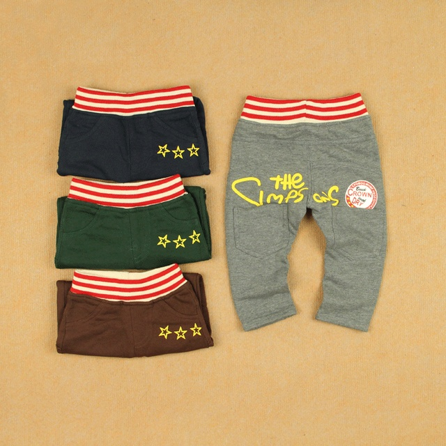 Red belt baby large pp pants harem male female child small children's clothing knitted cotton 100% openable-crotch cotton long
