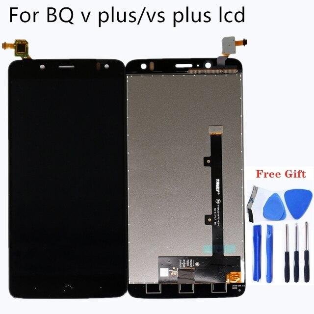 """5.5 """"עבור BQ Aquaris V בתוספת LCD תצוגת מסך מגע digitizer עבור BQ VS בתוספת LCD מסך ערכת תיקון טלפון נייד LCD תצוגת כלי"""