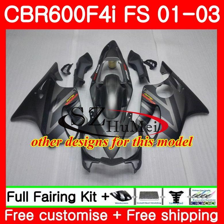 Корпус для HONDA CBR 600 F4i CBR 600F4i CBR600FS 600 FS горячая Распродажа blk 48SH19 CBR600 F4i 01 02 03 CBR600F4i 2001 2002 2003 обтекатели - 6