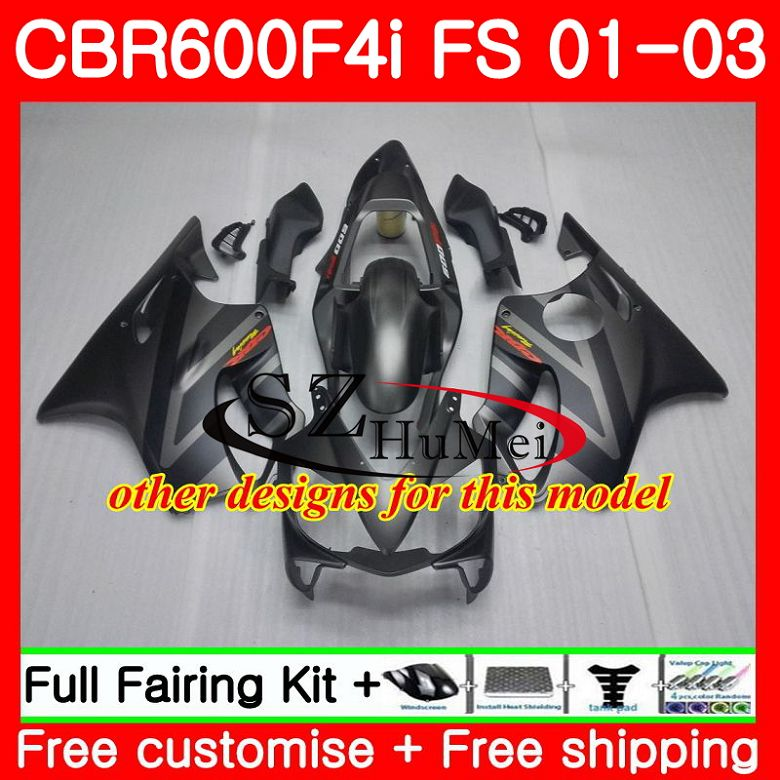 Cuerpo para HONDA CBR 600 F4i CBR 600F4i CBR600FS 600 FS Venta caliente blk 48SH19 CBR600 F4i 01 02 03 CBR600F4i 2001, 2002 de 2003 carenados - 6