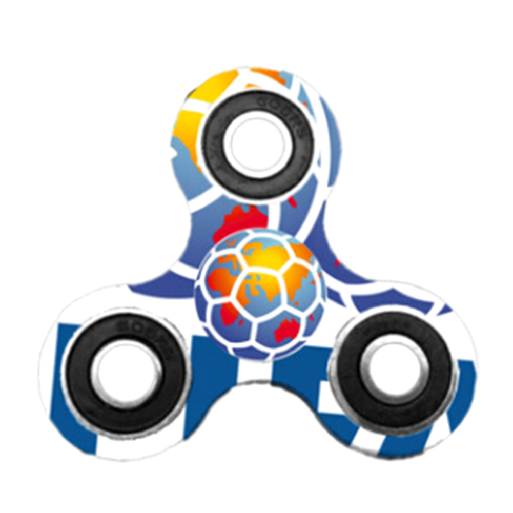Fidget Spinner Triangle Single Football Creative Decompression Finger Gyro Autism Focus Stress Reliever Toys For Kids Adults