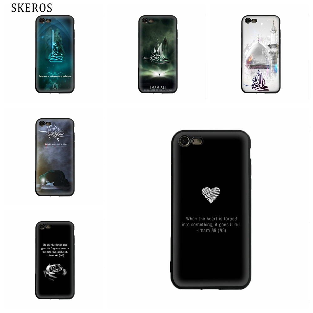 SKEROS Имам Али Силиконовые ТПУ телефон мягкий чехол для Iphone X 5 5S Se 6 6 S 7 8 6 плюс 6 S плюс 7 плюс 8 плюс # oa305 ...